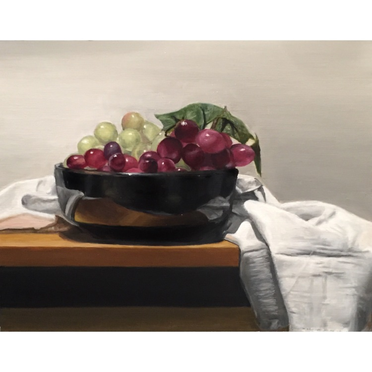 Claire Ganiban, Grape Still Life.JPG